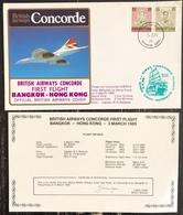 Premier Vol - Concorde - British Airways - Bangkok - Hong Kong - 1985 - Concorde