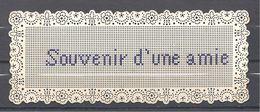 Belle Carte Perforée XIX ème Souvenir D'une Amie  Point De Croix - Cross Stitch