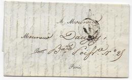 1829 - CACHET ABs Des PERIODIQUES RARE Sur LETTRE ! De PARIS => PARIS - Marcophilie (Lettres)
