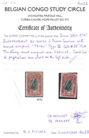 5 F 1894 TAXES Type III On COB #28 (= TX6c), * MLH With Certificate BCSC - Congo Belga