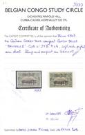 40c Issue 1894 With 1909 Overprint CONGO BELGE Brussels Type 2, * MLH, BCSC Certificate - Congo Belga
