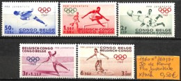 [836156]TB//*/Mh-Congo Belge 1960 - N° 367/71,  Jeux Olympiques, Sports - 1947-60: Neufs