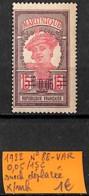 [836971]TB//*/Mh-France (Ex Colonie) Martinique 1922 - N° 88-VAR, 0.05/15c Surcharge Déplacée - Martinique (1886-1947)
