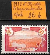 [836982]TB//*/Mh-France (Ex Colonie) Martinique 1922 - N° 98-VAR, 3 Hors Cartouche - Martinique (1886-1947)