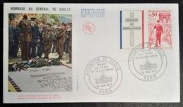 France 1971 - FDC - 1er Jour -  Hommage Au Général De Gaulle 10-11-1971 - FDC