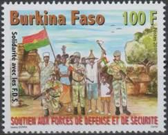 Burkina Faso 2019  Military Militaire Rifle Arms Soldat Soldier Flag Drapeau 100 Fcfa Mnh - Burkina Faso (1984-...)