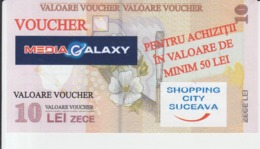 Romania - Media Galaxy - Ticket Voucher - 10 Lei Banknote - Size 133/71 Mm - 2011  - Stamp - Tickets D'entrée