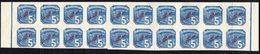 SLOVAKIA, 1939 5h BLUE IMPERF STRIP 20 MNH - Slovakia