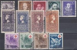 ESPAÑA 1950 Nº 1070/1087 AÑO COMPLETO USADO (SIN VIAJES A CANARIAS) CON SERIE CENTENARIO CORTA - Full Years