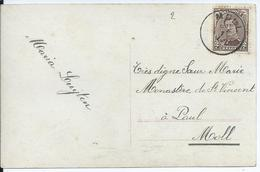 Fantasiekaart Met OCB 136 - Afstempeling MOLL Zonder Jaartal - 1915-1920 Albert I