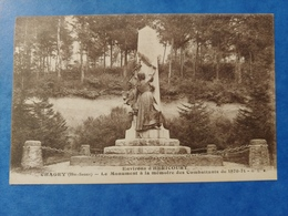 Environs D'Hericourt Chagey Le Monument à La Mémoire Des Combattants De 1870-71 Haute Saône Franche Comté - Altri Comuni