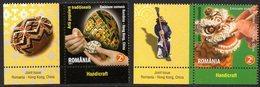 Roumanie Romania 5554/55 Hong-Kong China, œuf, Dragon, Nouvel-an - Emissions Communes