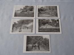 ANTWERPEN / ANVERS: LOT Van 5 Kaarten - Incendie Des Réservoirs à Pétrole - 26-08-1904 - Disasters