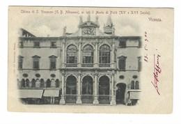 3702 - VICENZA CHIESA S VINCENZO AI LATI IL MONTE DI PIETA' 1900 - Vicenza