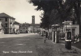 Piemonte  - Torino - Vigone   - Piazza Clemente Corte - F. Grande - Anni 60 - Bella Animata Distributore - Altre Città