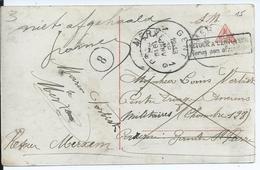 """Fantasiekaart Van Merxem Naar Gent (centre Triage Anciens Militaires) - Met Handgeschreven """"niet Afgehaald + Handtekenin - Army: Belgium"""