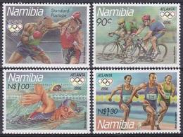 Namibia Südwestafrika SWA 1996 Sport Spiele Olympia Olympics IOC Atlanta Boxen Radfahren Schwimmen Laufen, Mi. 815-8 ** - Namibia (1990- ...)