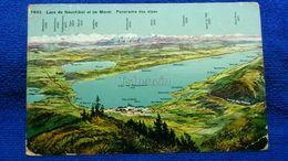 Les Neuchatel Et De Morat Panorama Des Alpes Switzerland - NE Neuchâtel