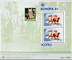PORTUGAL ACORES  -   OWLS VERY INTERESTING  -1 Sheet MNH - Hiboux & Chouettes