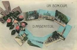 VAL D'OISE  ARGENTEUIL   Un Bonjour De ... - Argenteuil
