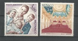MONACO ANNEE 1966 PA N°85 86 NEUFS**NMH - Poste Aérienne