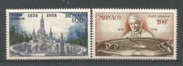 MONACO ANNEE 1958 PA N°69 70 NEUFS** MNH - Poste Aérienne