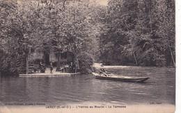 91-JARCY-L'YERRES AU MOULIN- LA TERRASSE-BARQUES - ANIMEE - Francia