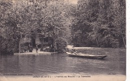 91-JARCY-L'YERRES AU MOULIN- LA TERRASSE-BARQUES - ANIMEE - Zonder Classificatie