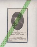 Christina Amelia Decoo-Bruyneel, Breedene 1838, Oostende 1932 - Esquela