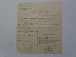 """VIEUX PAPIERS - CERTIFICAT DE VISITE : Porte-Avions """"COLOSSUS"""" - TOULON - Historical Documents"""