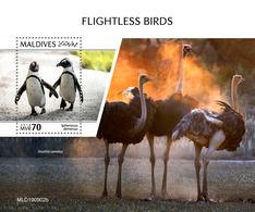 MALDIVES 2019 - Flightless Birds, Penguins S/S Official Issue [MLD190902b] - Pingouins & Manchots