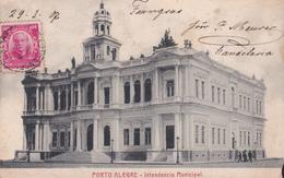 CPA - Brasil / Brésil - Porto Alegre - Intendencia Municipal - 1907 - Attention Etat Coin Droit Inférieur Manquant - Porto Alegre