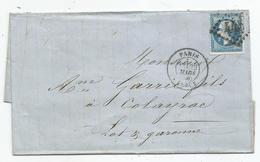 - SEINE - PARIS-BERCY GC.445 S/TP Napoleon III N°22 + Càd T.17 - 1866 - 1862 Napoleone III
