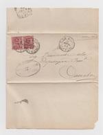 1899 Annullo Sessa Aurunca Su Coppia 10 Centesimi Umberto I - Marcophilia