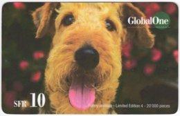 SWITZERLAND D-254 Prepaid GlobalOne - Animal, Dog - Used - Schweiz