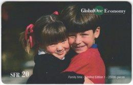 SWITZERLAND D-290 Prepaid GlobalOne - People, Children - Used - Schweiz