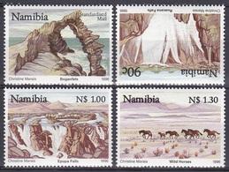 Namibia Südwestafrika SWA 1996 Tourismus Tourism Wasserfall Waterfalls Epupa Felsen Rocks Pferde Horses, Mi. 804-7 ** - Namibia (1990- ...)