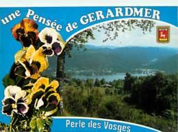 88 - Gérardmer - Le Lac Depuis Le Cotau Des Xettes - Fleurs - Pensées - Blasons - Voir Scans Recto-Verso - Gerardmer