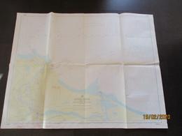 POLAND GDANSK  DANZIG  , HUGE NAUTICAL MAP OF SOVIET RUSSIAN NAVY , 0 - Cartes Marines