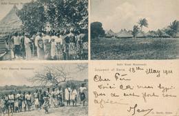 MOUTOUNDO / MOCAMBIQUE  -  1911 ,  Kafir Dancing , Kafir Kraal - Mozambico