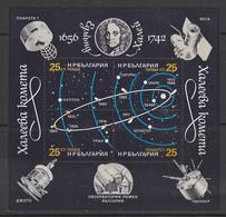 BLOC NEUF DE BULGARIE - PASSAGE DE LA COMETE DE HALLEY N° Y&T 135 - Astronomie