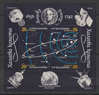 BLOC NEUF DE BULGARIE - PASSAGE DE LA COMETE DE HALLEY N° Y&T 135 - Astronomy