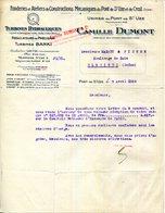 26.DROME.PONT DE SAINT UZE.CREST.TURBINES HYDRAULIQUE.REGULATEURS.ATELIERS DE CONSTRUCTIONS.CAMILLE DUMONT..(P.J) - Frankreich