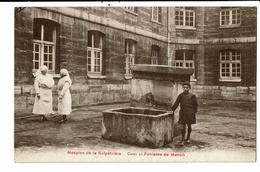 CPA-Carte Postale-FRANCE-Paris Hospice De La Salpétrière -Cour Et Fontaine Manon  VM13117 - Santé, Hôpitaux