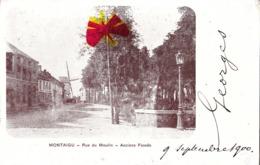 MONTAIGU - Rue Du Moulin (Moulin Au Bout De La Rue) - Anciens Fossés - Carte Circulé En 1900 - Scherpenheuvel-Zichem