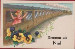 Groeten Uit NIEL Trein Stoomtrein Dampfzug Steam Train A Vapeur Tren De Vapor (In Zeer Goede Staat) - Niel
