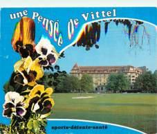 88 - Vittel - L'Ermitage Et Le Golf - Fleurs - Pensées - Voir Scans Recto-Verso - Vittel Contrexeville