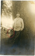 RPPC - SPA Belgien  Belgien - Portrait Soldat Mit Buch In Der Hand - Carte Photo Allemande 1914-1918 WWI - Guerre 1914-18