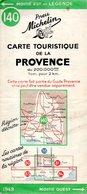 Carte Routière De La Provence Touristique édition 1949 - Cartes Routières