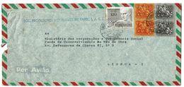 Portugal , 1972 , Commercial Cover , SOC PRODUTORES AÇORIANOS PAPEL , Azores  , Francisco Franco Stamp - 1910-... Republic